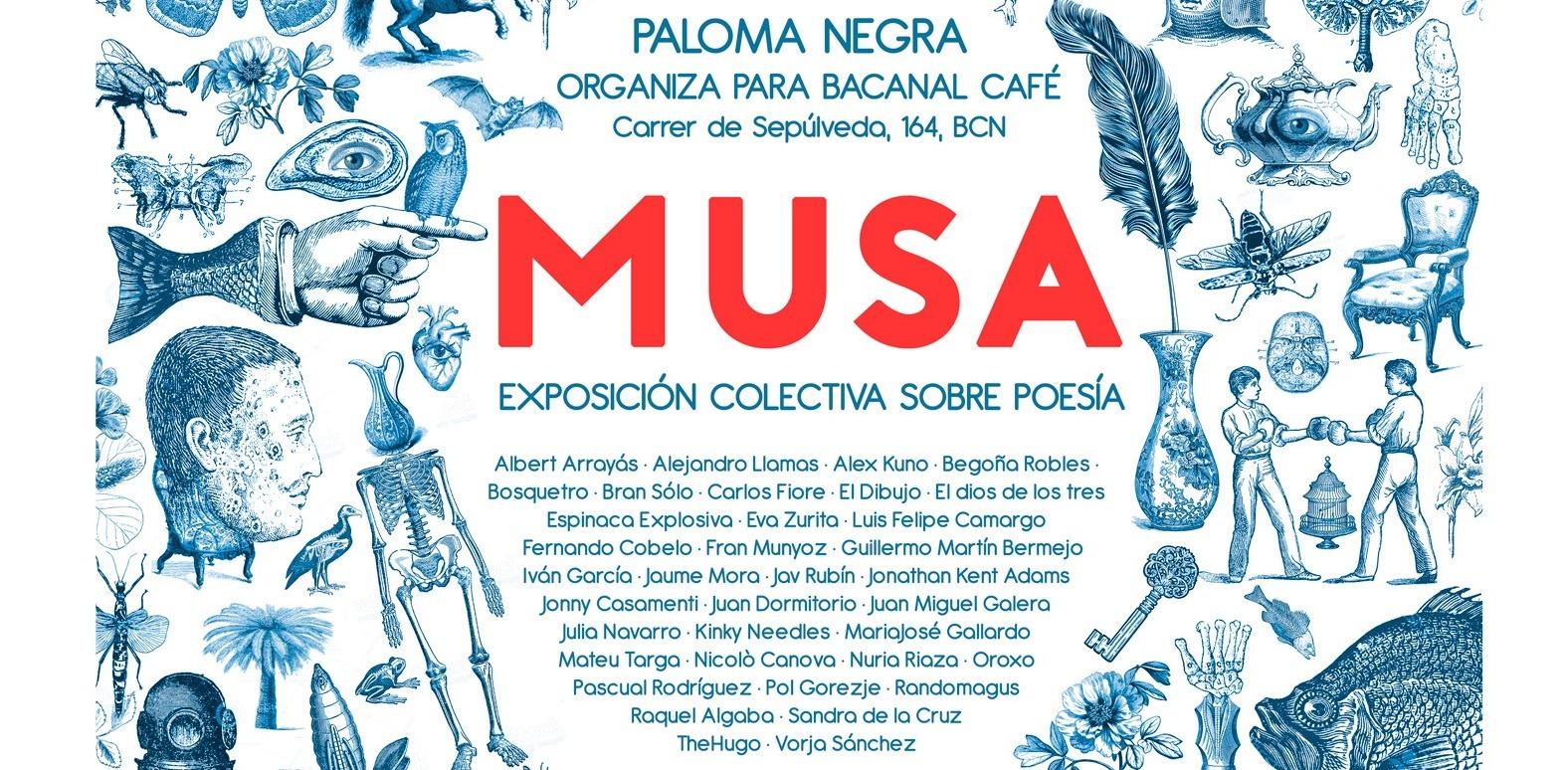 MUSA, exposición en Bacanal Café, Barcelona